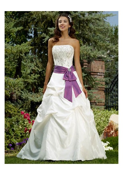 Spring wedding gowns can be lighter sleeveless and more flowing