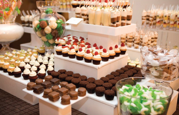 is sure to be popular at weddings next year is to have a dessert bar